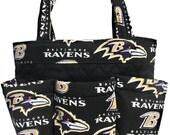 Baltimore Ravens Bingo Bag // Craft Organizer // Makeup Organizer // Caddy // Teacher Tote // Nurse Tote