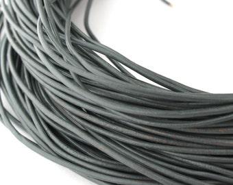 LRD0105034) 0.5mm Shimmer Genuine Round Leather Cord.  1 meter, 3.7 meters, 5 meters, 7.5 meters.  Length Available.