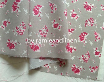 "Japanese cotton fabric,  floral print cotton fabric, half yard by 44"" wide"