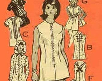 Vintage 1970s Pantsuit Pattern With Hoodie Uncut Bust 38 Size 16 Anne Adams 4637