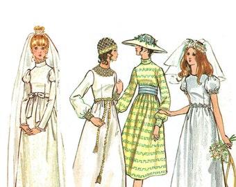 Vintage 1960s Wedding Gown Pattern Uncut Bust 32 Butterick 6059
