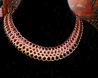 Cleopatra Chainmaille Statement necklace