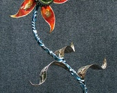 "Beautiful hand crafted steel flower. ""Ka-Bloom"""