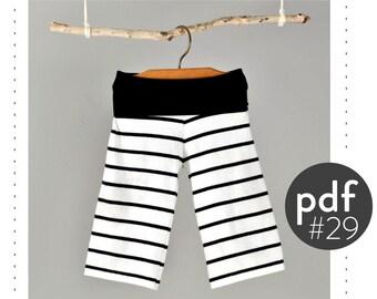 Wide leg yoga pants sewing pattern // photo tutorial // digital download // Preemie-6T // #29