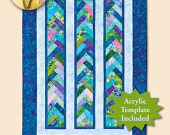 Braid in a Day Quilt Pattern-  Quilt in a Day  Jelly Roll  Friendly Quilt Pattern