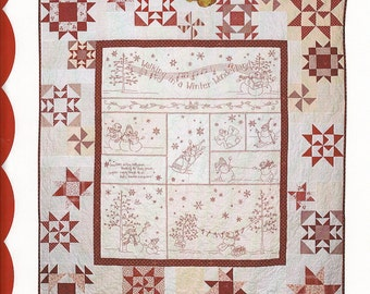 Crabapple Hill Winter Wonderland Quilt Stitchery pattern  CH 408  New Pattern