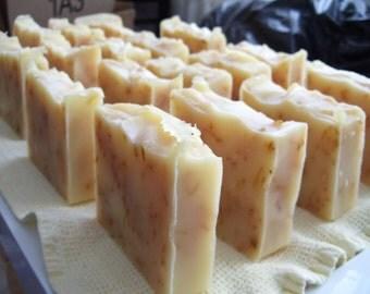 Lemon Grass Calendula Shea Butter Soap