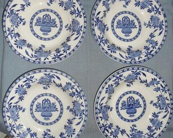 Set of 4 DELPH Soup Bowls    Woods & Sons  Burslem  England