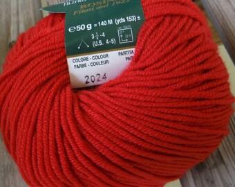 DK Weight Yarn - Chili (2024) - King Australian Merino (Italy) - 50g / 152 yards