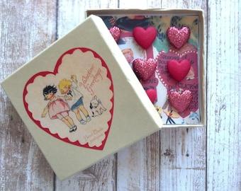 Valentine Heart Nostalgic Pushpins