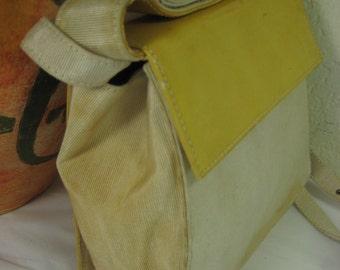 Vintage Small Salvatore Ferragamo Yellow Party Shoulder Bag Italy