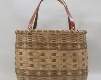 Shoppers Tote Basket-Handwoven Basket
