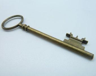 5pcs 25x83mm Antique Bronze Huge Key Charm Pendant c237