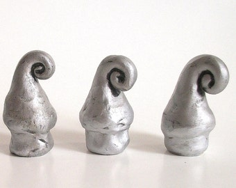 Handmade Drawer Knobs / Pulls / Silver Elf Hat /Hooks