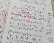Sheet Music - Hymnal Sheets - 100 Pages, Paper Ephemera - Sheet Music Crafts