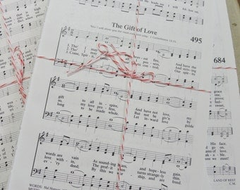 Sheet Music, Hymnal Sheets, 100 Pages of Music, Paper Ephemera, Sheet Music
