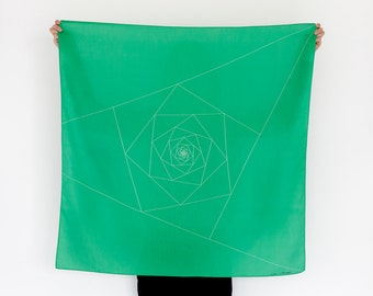 Triangles Furoshiki. Japanese eco wrapping textile/scarf, handmade in Japan