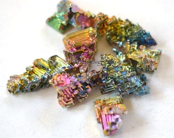 NEW - BISMUTH CRYSTAL Loose Stone Cabochon Specimen Natural Rainbow Focal - Perfect for Wire Wrapping!