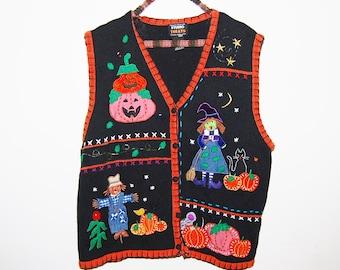 Vintage Halloween Novelty Sweater Vest