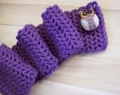 Owl Dusty Purple Scarf