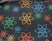 Atomic Orbits (Black) Chemistry Fat Quarter Science Fabric