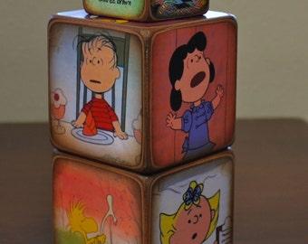 Peanuts Wood Blocks