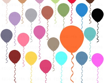 Balloons Digital Clip Art, Commercial Use - Instant Download - DP258