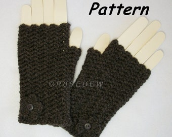 Instant Download to PDF Crochet PATTERN: Romance Fingerless Mitts