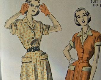 Vintage Ladies Dress Pattern 1950s Advance Pattern Sewing Pattern Ladies Dress Vintage Sewing Room Mid Century Modern