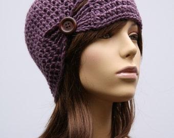 Light Purple gathered Cloche Hat