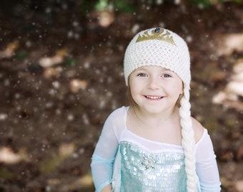 Frozen Inspired Elsa Hat Pattern 2-5yrs