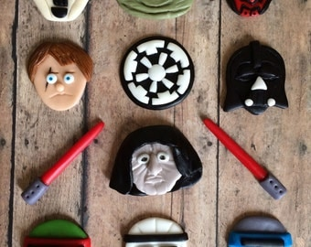 EDIBLE (Fondant Toppers) - Star Wars Galactic Empire Inspired