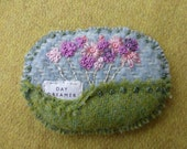 Day Dreamer Embroidered Irish Tweed Brooch
