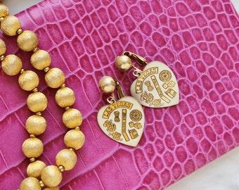Las Vegas Gambling Dice Novelty Heart Earrings Vintage 60s