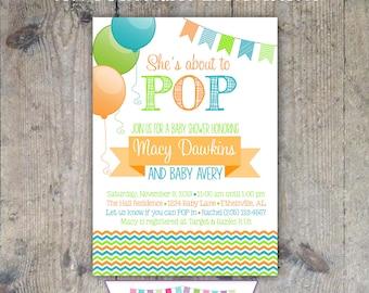 POP Baby Shower Invitation 5x7 - Printable