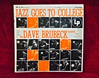 DAVE BRUBECK - Jazz Goes to College - 1955 Vintage Vinyl Record Album