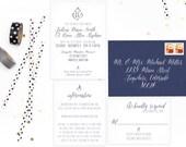 Calligraphy Nautical Wedding Invitations. Nautical Wedding. Modern Wedding Invitations. Wedding Favors. Wedding Menu. Wedding Programs.