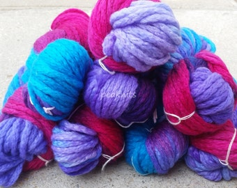 Araucania Yarn ~ Maipo ~ 65 yards (60 meters) 3.52oz/100g Pink, Turquoise and Purple Bulky Virgin Wool  -Handpainted in Chile, Spun in Italy