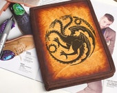 Kindle Leather Cover - House Targaryen - Customizable - Free Personalization