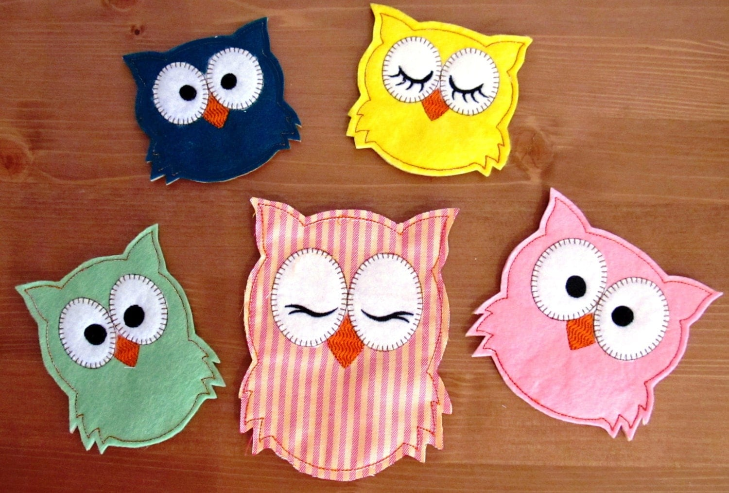 Owls set easy in the hoop machine embroidery designs for