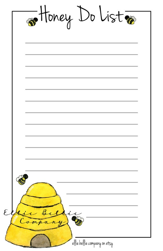Vibrant image in honey do list printable