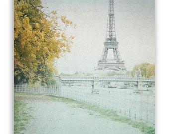 Paris Photography, Seine River, Paris bridges in autumn, Paris Wall Decor, autumn home decor, Eiffel Tower decor - Fine Art Photograph