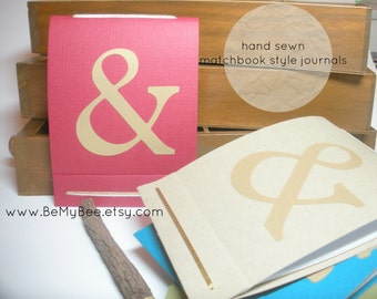 Ampersand - Typography - Modern Journal - Handmade Journal - Pocket Journal - Matchbook Style Journal