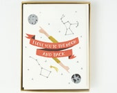 Moon and Back Card 10pcs