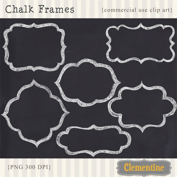 Free Chalkboard Clip Art Graphics Including Ampersands Frames Arrows Banners Hearts And More