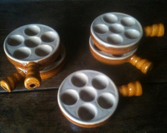 Vintage French escargot snail eating serving dishes set of 5 circa 1970's / English Shop