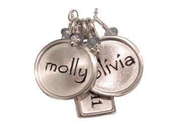 Personalized Charm Name Necklace - Sterling Silver