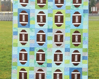 Touchdown Quilt Pattern designed by Cluck Cluck Sew