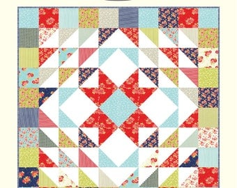 Cozy Cotton Quilt Kit with Miss Kate Layer Cake designed by Bonnie Olaveson of Cotton Way