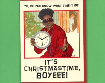 FLAVOR OF CHRISTMAS - Funny Christmas Card - Flavor Flav - Pop Culture Card - Funny Card - Card - Christmas - Flavor of Love - Item# X045